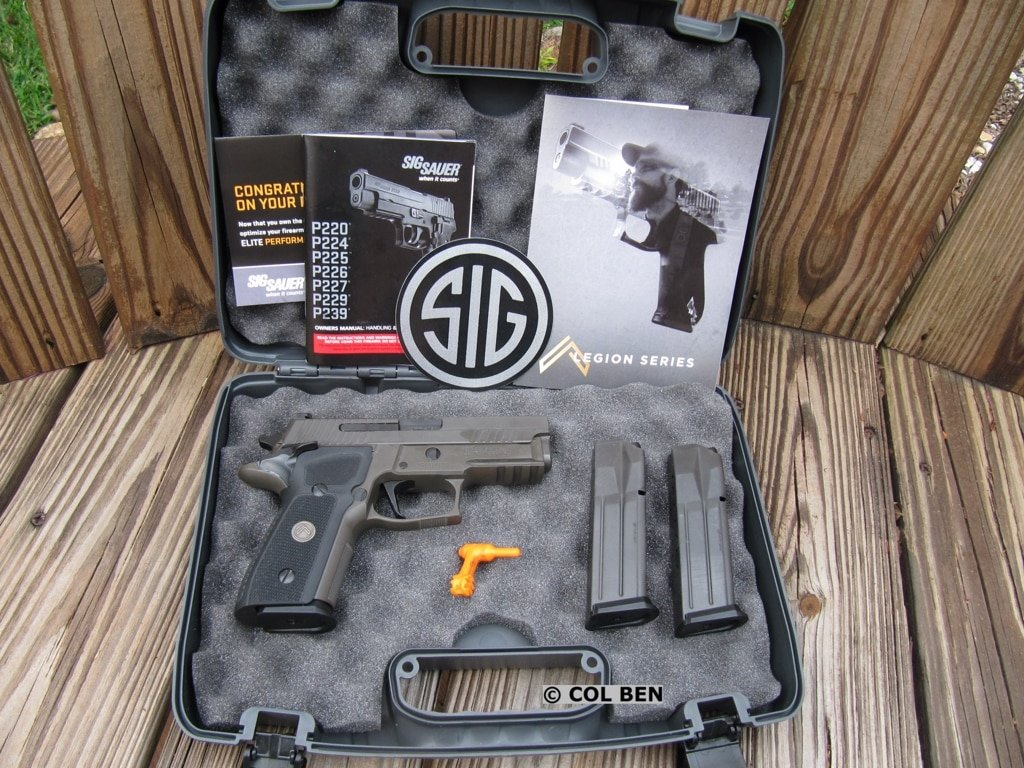 Sig P229 Legion SAO Compact 9mm in Lockable Hard Case with 3 Magazines, Lock, and Chamber Flag