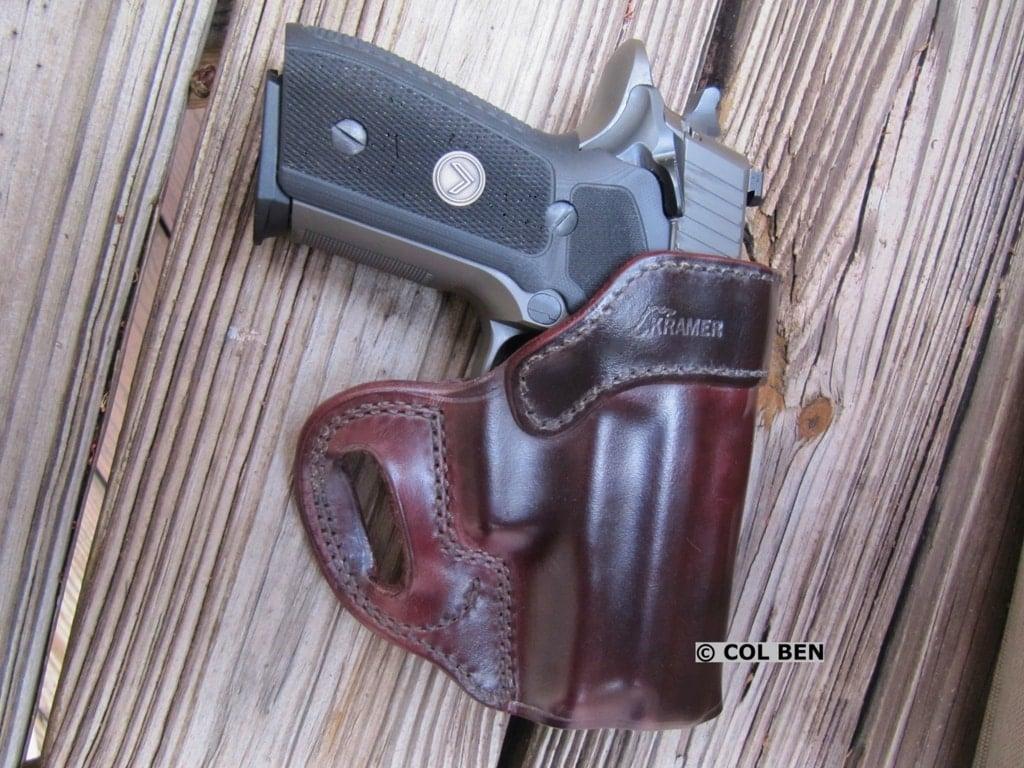 Sig P229 Legion SAO Pistol in Kramer Leather Holster