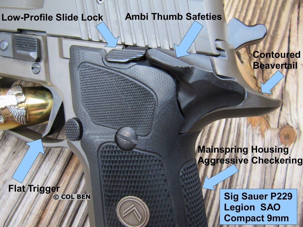 Sig Sauer P229 Legion SAO Compact 9mm Selected Features