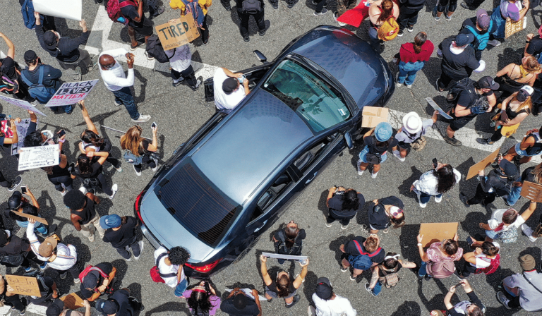 Vehicle Defense Against Violent Mobs