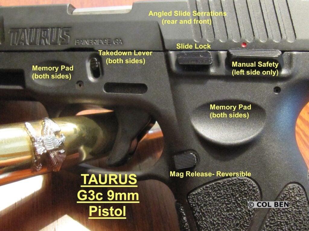 Taurus G3c Memory Pads