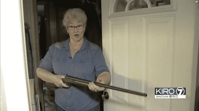 Grandma Holds Intruder At Gunpoint For Police
