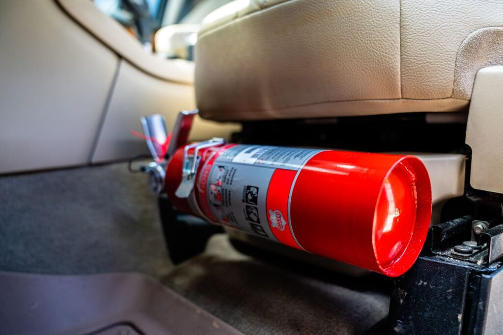 Vehicle Mounted Fire Extinguisher