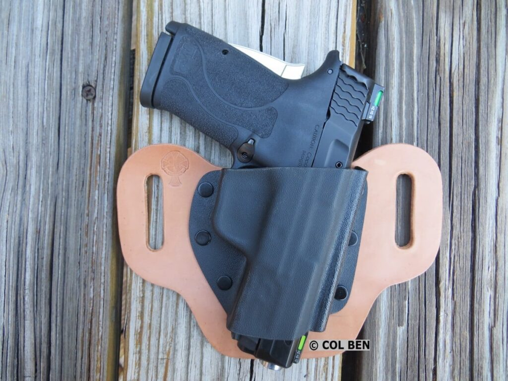 Smith & Wesson Performance Center M&P9 Shield EZ 9mm Pistol in CrossBreed OWB DropSlide Holster