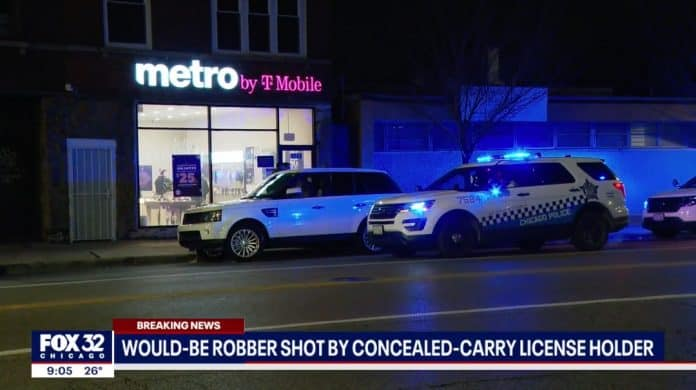 Chicago Concealed Carrier Stops Robbery That Gun Control Laws Couldn't
