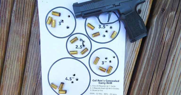 Concealed Carry Proficiency Drill Using Limited Rounds