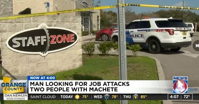 Armed Employee Shoots Man Wielding a Machete to Stop Attack