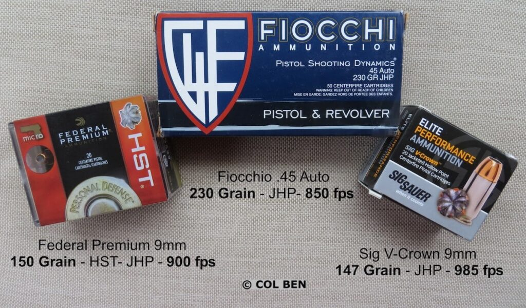 Subsonic heavier-weight ammo examples