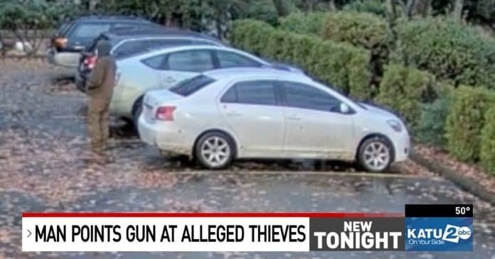 Homeowner Discovers Catalytic Converter Thieves; Holds Them At Gunpoint For Police