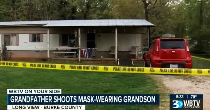 Grandfather Shoots Mask-Wearing Grandson Who Broke In and Attacked Him
