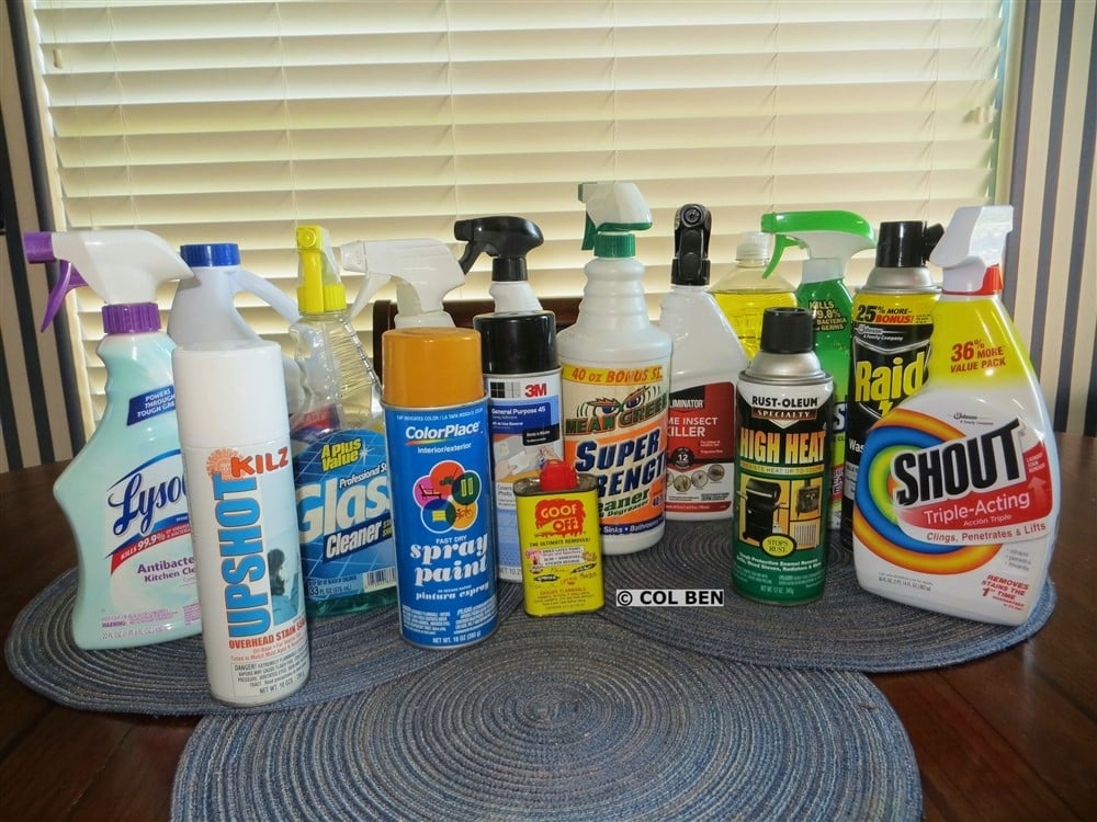 Some Common Household Chemical Products that Degrade and Destroy Ammo