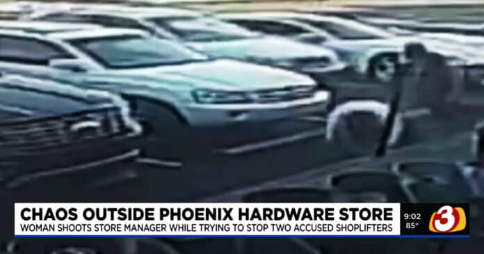 Store Manager Shot in Leg by Bystander While Chasing Shoplifters