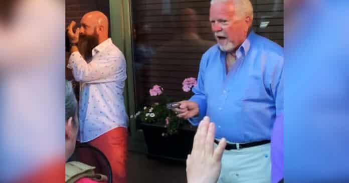 Restaurant Customer Pulls Gun As Protesters Swarm Outdoor Seating Area