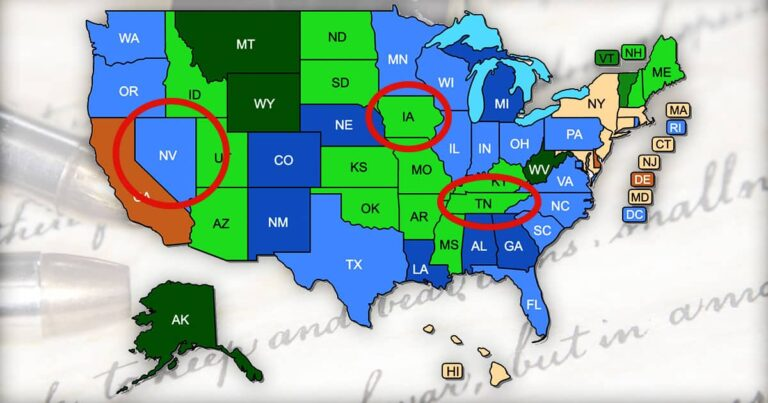 Concealed Carry Map Update   July 1, 2021