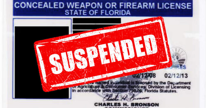 CCW Permits Suspended for 22 Florida Individuals in Capitol Riot