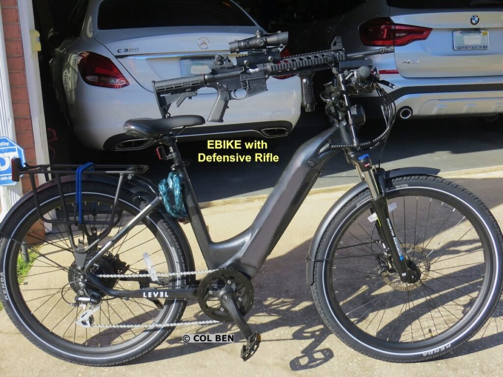 A rifle is not a good choice for E-Bike carry