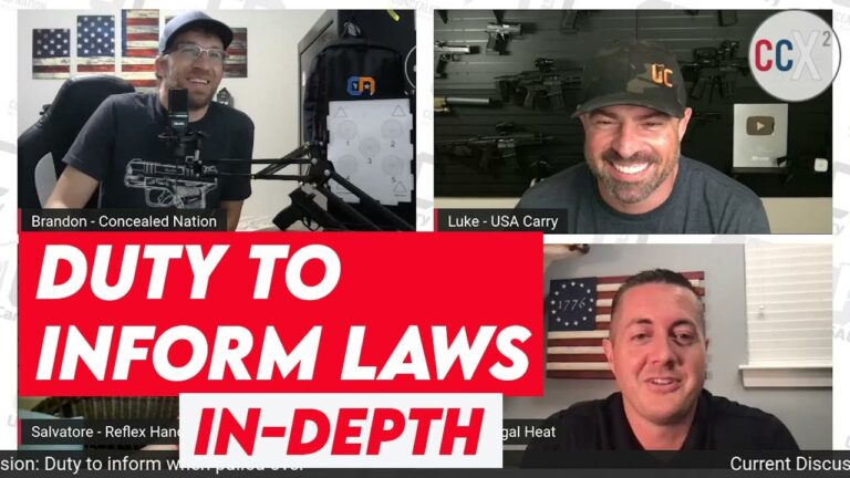 [VIDEO] What To Do When Pulled Over While Concealed Carrying | Duty to Inform