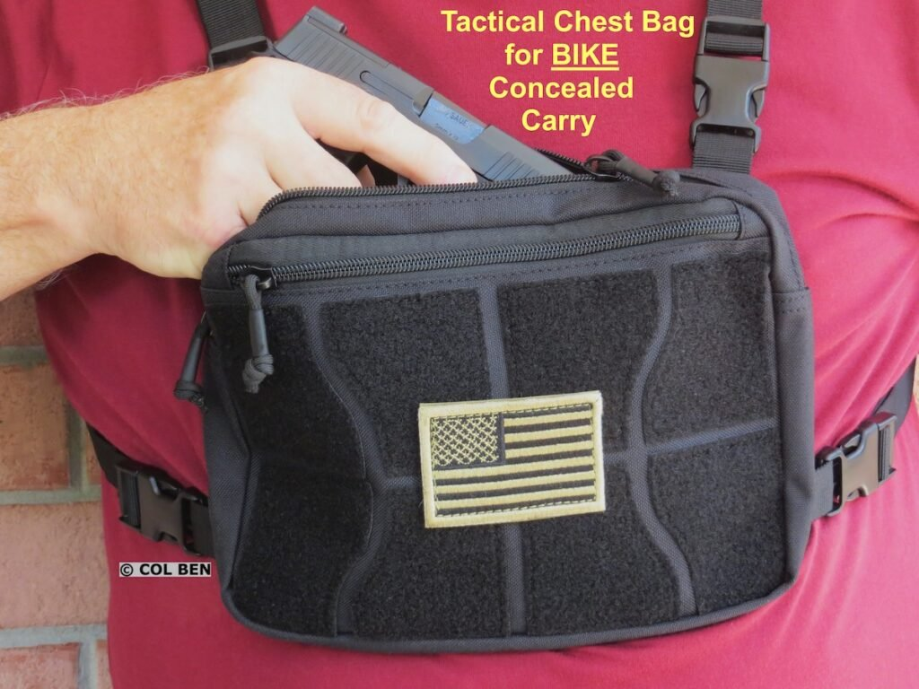 A Tactical Chest Bag Rig is Preferred by the Author for Bike Carry