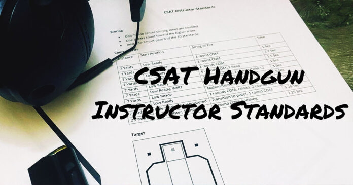 CSAT Pistol Instructor Standards